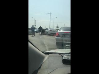 ДТП возле светофора в Заветном (трасса Кавказ) 30 08 18 Армавир