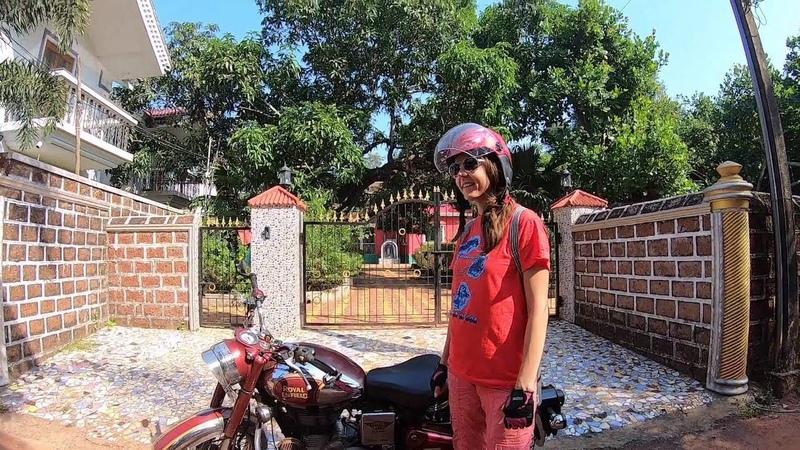 India Goa Siolim Vagator Beach View bike trip
