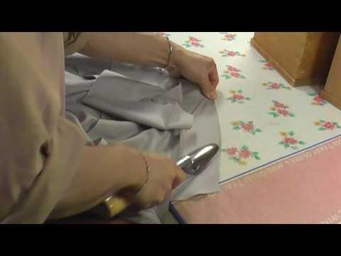 和裁、着物、縫い方、表の素縫い、地衿の鏝あて