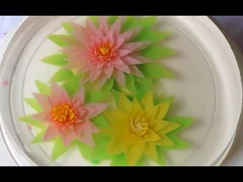Cách làm rau câu 3d đơn giản nhất How to make Gelatin Art flowers at home