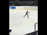 Александра Трусова - 4T+3T, тренинировка, Каунас, ЮГП, 05.09.18