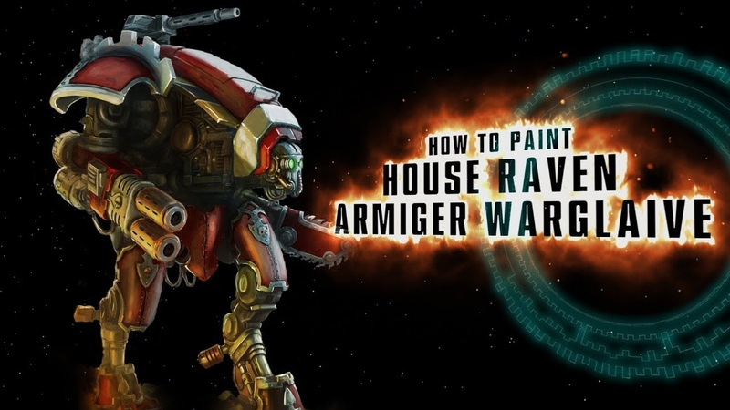 How to paint House Raven Armiger Warglaive