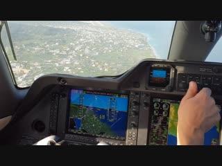 Landing in rhodes island greece