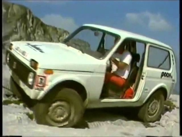 JC Briavoine rocking with his LADA 4x4 Niva