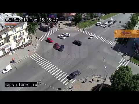 В Уфе водитель Lada Granta устроил ДТП 20 06 2018