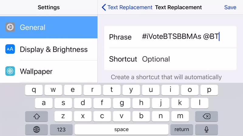 ARMY learn how to use Text Replacement to make voting easier, faster and avoid hidden characters. IPhone - First Setting General