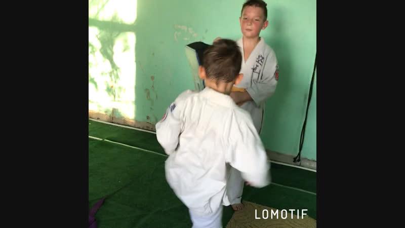 17.10.2018 детская тренировка в клубе кудо Гепард