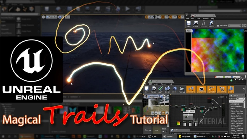 Unreal engine Magical Trails Tutorial