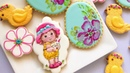 Easter Cookies. Cute little girl with bunny. 🐇🐥