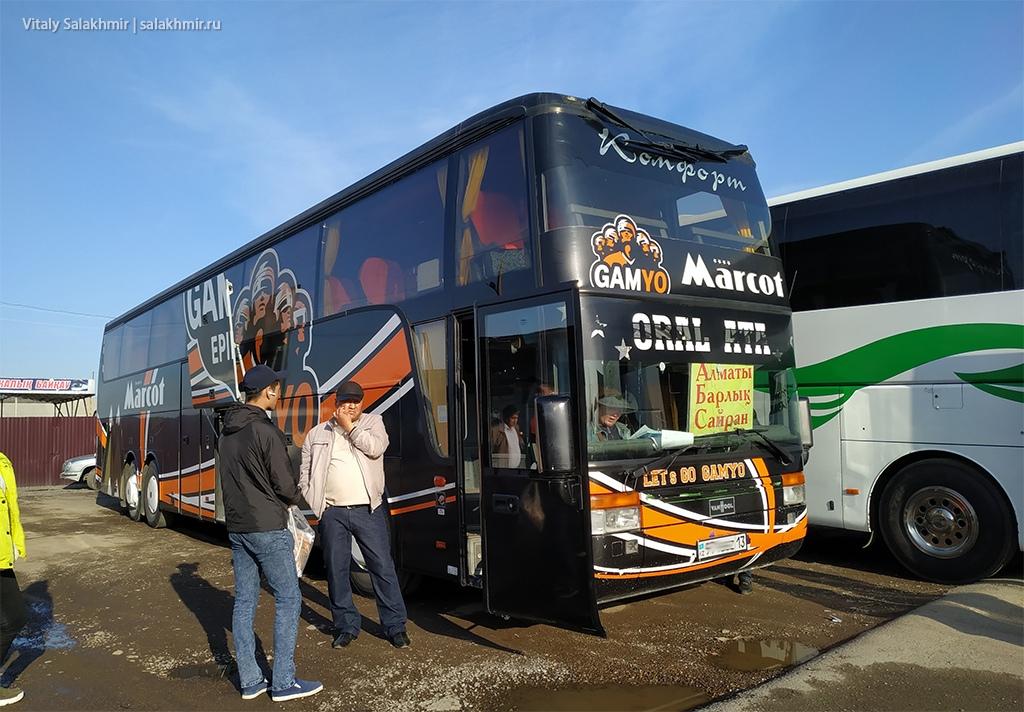Автобус от Черняевки до Алматы, дорога 2019