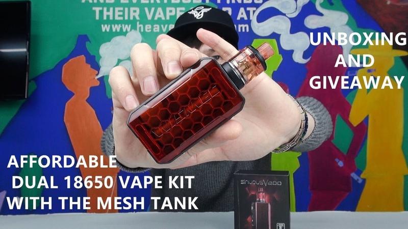 Wismec Sinuous V200 Kit | Cheap vape kit with mesh coil tank | Giveaway