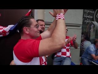 Croatian fans in Russia