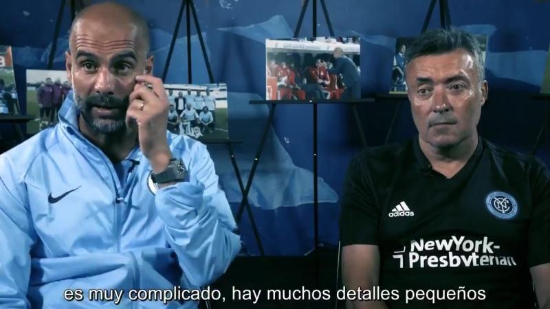 Guardiola habla sobre Doménec Torrent y explica su papel cuando él debutó como entrenador en el Barça B. -