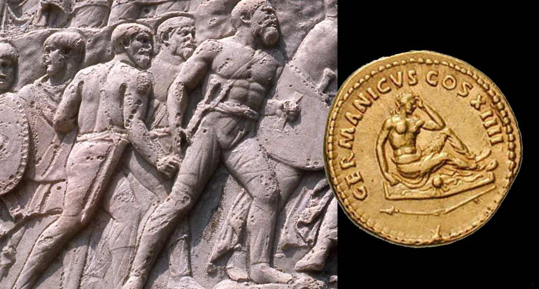 Германцы на римском рельефе