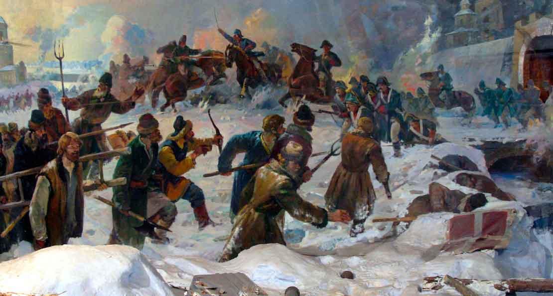 Бой пугачевцев