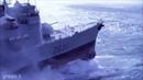 Военные корабли попали в шторм. Сильный шторм.
