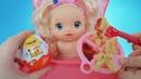 Куклы Пупсики Беби Элайв Соня кушает макароны. Готовим на игрушечной плите Плей До. Зырики ТВ