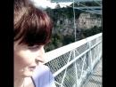 Чуть экстримчика! начинаю идти по подвесному мосту в горах! Скайпарк Адлер-2018