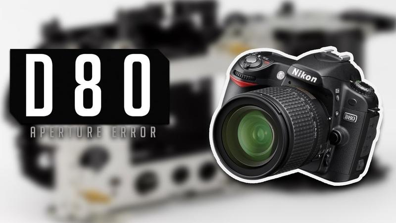How to repair DSLR Nikon D80 - aperture problem (Err message)