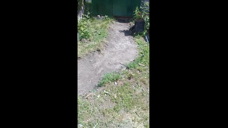 Демонтаж дорожки из бетонной стяжки с кирпичами.⛏😊