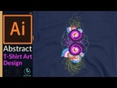 Designing a Abstract Art for T-shirt Design in Adobe Illustrator