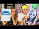 3 МАРКЕРА ЧЕЛЛЕНДЖ с МОМ0 / Угадай КТО ТАКАЯ нарисована ? / Мы рисуем с мамой / НАША МАША