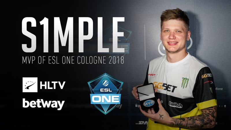 S1mple - HLTV MVP by betway of ESL One Cologne 2018