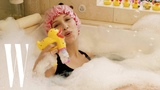 Bella Hadid Relaxes at Home with a Bubble Bath, Jenga, and Pizza W Magazine