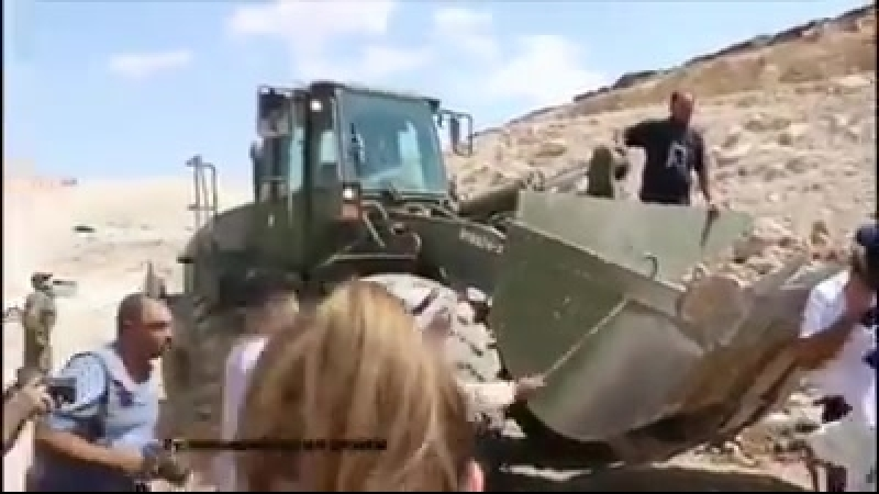 Israelis hand notices to village of alKhan_alAhmar, ordering they leave their homes by Oct 1 before inevitable demolition!