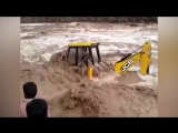 HUGE FAIL - Excavator Stuck In Flood River And Extreme Rescue