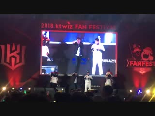 Seungri 1, 2, 3 covered one of baseball players kt wiz fan festival!