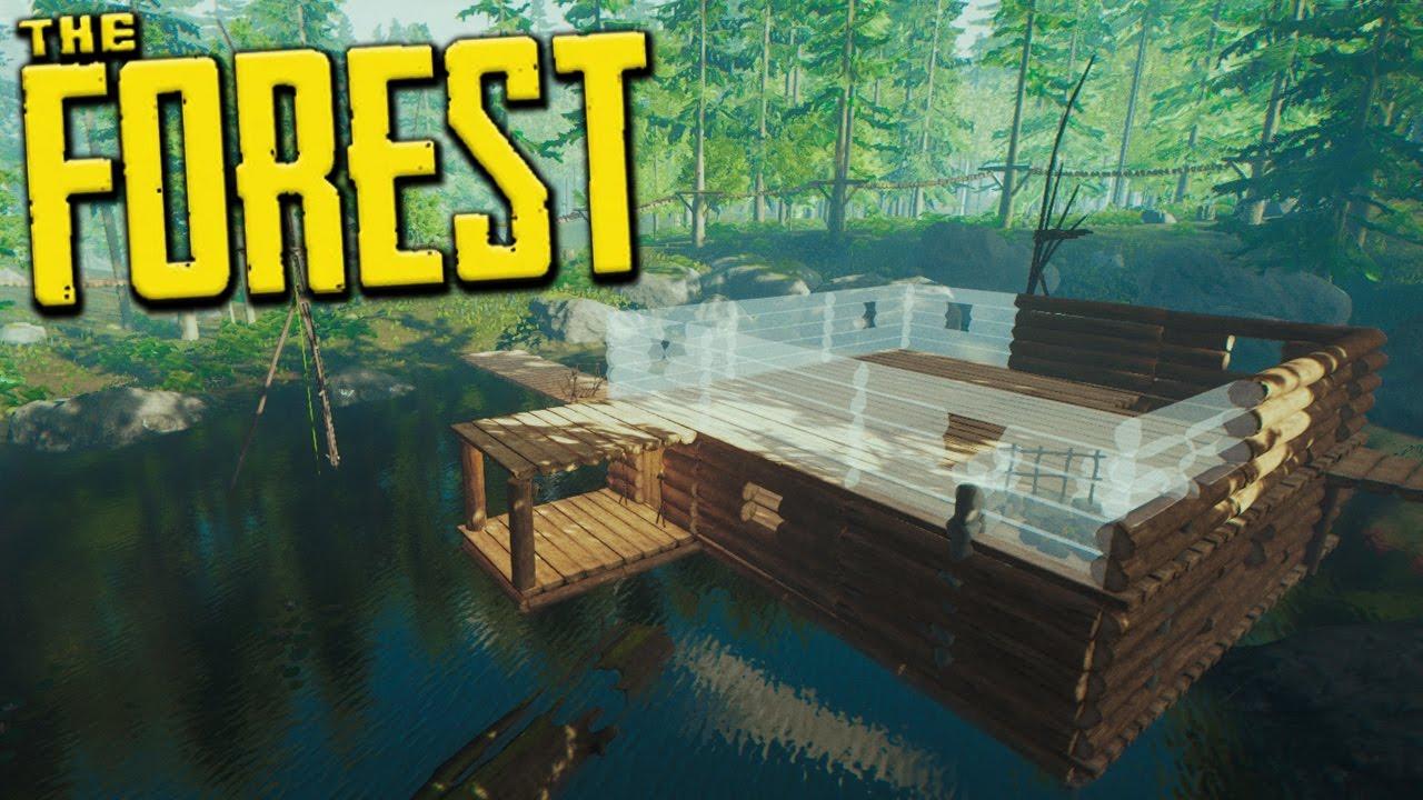 дом на воде в The Forest