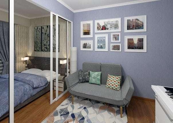 Идея для небольшой квартиры студии 24 кв.