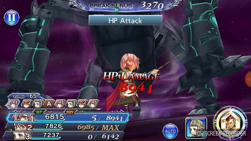 DFFOO Power Magic's Chasm Rising 70 lvl scores 32k