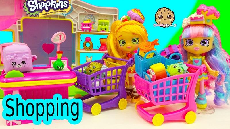 Shoppies Small Mart Shopkins Shopping with Pam Cake Rainbow Kate For Season 4 5 Packs