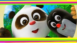 СЮРПРИЗ С ИГРУШКОЙ Panda little mole Surprsie Eggs with Toys Unboxing Yogurt