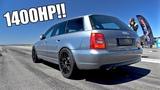 1400HP Audi S4 B5 Biturbo TTD 311Kmh Brutal Accelerations!