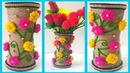 DIY JUTE FLOWER POT/PLASTIC GLASS JUTE CRAFT/Flower Vase/ FLOWER POt OF Disposable plastic Glass