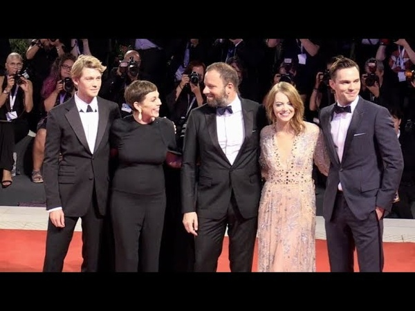 Emma Stone, Nicholas Hoult, Olivia Colman, Yorgos Lanthimos and more on the red carpet for the Premi