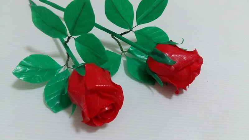 ดอกไม้จากหลอด ดอกกุหลาบจากหลอด by มายมิ้360