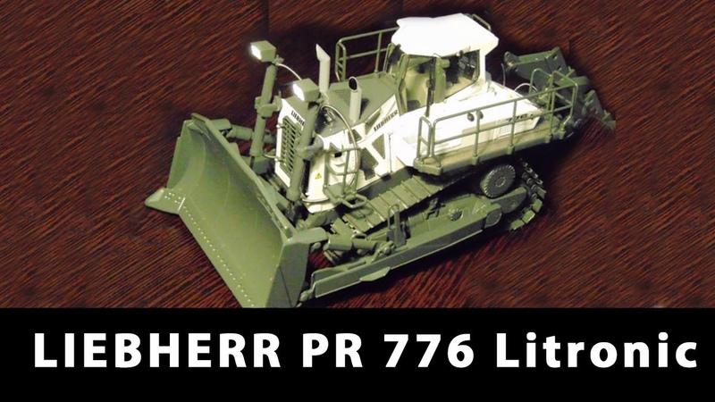 RC Hydrostatic Bulldozer LIEBHERR PR 776 Litronic Электрификация моделей проект Динамика 57
