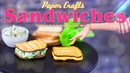 DIY - How to Make: Doll Chicken Salad Sandwich Grill Cheese Sandwich