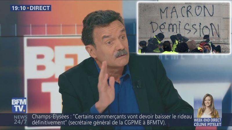 Plenel estime que Macron devrait dissoudre l'Assemblée voire démissionner (BFMTV,17/03/19,19h)