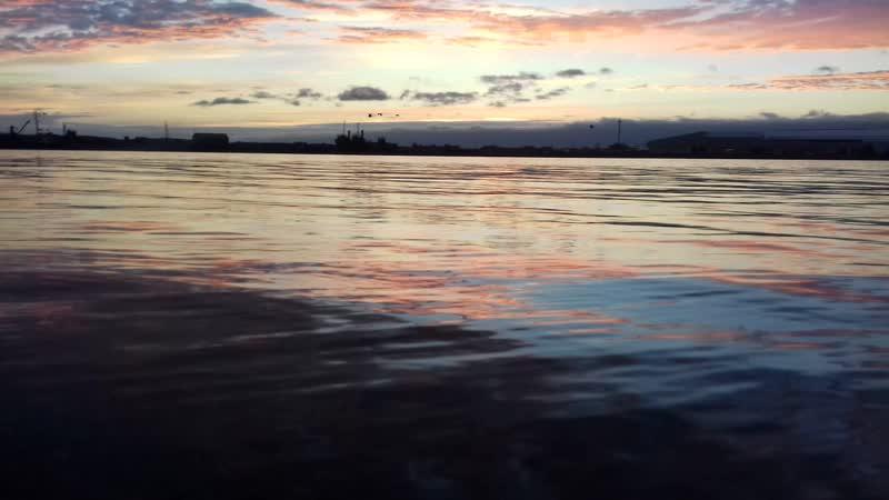 Закат на р. Озерной. Камчатка..!!