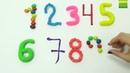 Цифры для малышей, разноцветный пластилин Плей ДО Учим цифры и цвета