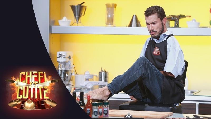 """Marian Basa a gătit cu picioarele la Chef la Cuțite """"M-am născut cu un grav handicap la mâini"""""""