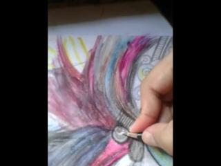 51212 #desenhos #surrealismo #cores #lobos #flor #mistura #lápis