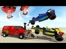 BeamNG Drive самые быстрые аварии на трассе формула 1, лучшие моменты