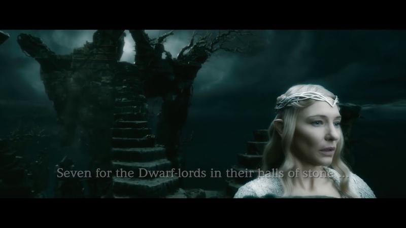 Sauron vs Galadriel (with the 9 Kings, Saruman and Elrond in Dol Guldur) - Black Speech in Subtitles