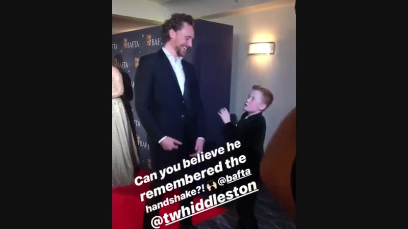 Tom with Braydon Bent at the BAFTA Film Gala at The Savoy Hotel in London on Feb 8, 2019